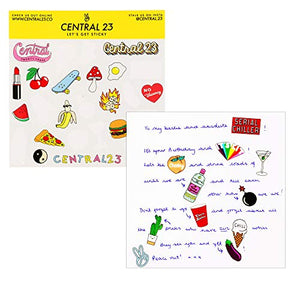 Central 23 – Cute Birthday Card – 'AVO Great Bday' for Her Him Best Friend – Greeting Card – for Men and Women – Comes with Fun Stickers