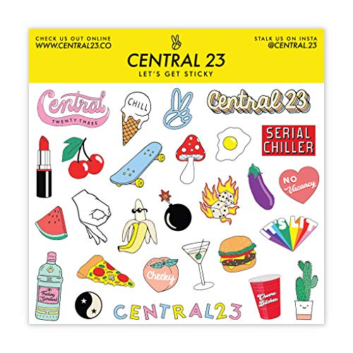 Central 23 - Funny Birthday Card – 'Shake Ya Melons' – Pink Design – Cheeky Card for Women – Witty Joke for Friends – Comes with Fun Stickers