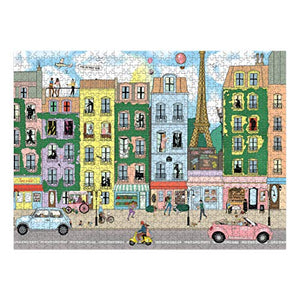 Central 23 - 1000 piece Jigsaw Puzzle - Puzzles for Adults - Thousand Piece Puzzle - Impossible Jigsaws for Adults 1000 pieces - Paris Street Theme