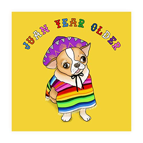 Central 23 - Funny Birthday Card - 'Juan One Year Older' for Him or Her - Happy Birthday Card Mum Dad Husband Wife Brother Sister - Humorous Dog Cards