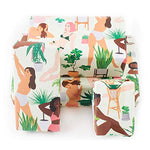Load image into Gallery viewer, Central 23-6 Wrapping Paper Sheets - Plant Ladies - Green and Pink GiftWrap for Women - Birthday Gift Wrap for Her - Adults and Teenagers - Recyclable