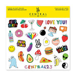 Load image into Gallery viewer, Central 23 - Cute A5 Notebook - 'Juicy Ideas' - Lemon Pattern - 120 Ruled Pages - Comes with Fun Stickers