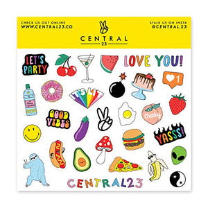 Central 23 - Cute A5 Notebook - 'Juicy Ideas' - Lemon Pattern - 120 Ruled Pages - Comes with Fun Stickers