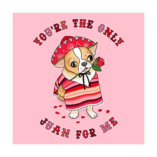 "Central 23 - Anniversary Funny Card ""You're The Only Juan for Me"" for Girlfriend Boyfriend Husband & Wife - 1st 2nd 3rd Year Cute Valentines Cards Wedding"