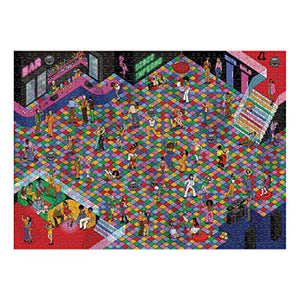 Central 23 - 1000 piece Jigsaw Puzzle - Puzzles for Adults - Thousand Piece Puzzle - Impossible Jigsaws for Adults 1000 pieces - Disco Inferno Theme