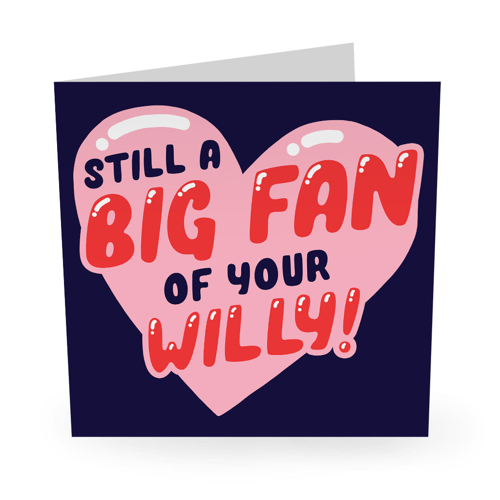 Big Fan Of Your Willy Love / Anniversary Card - US