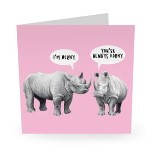 Always Horny Birthday Card - US