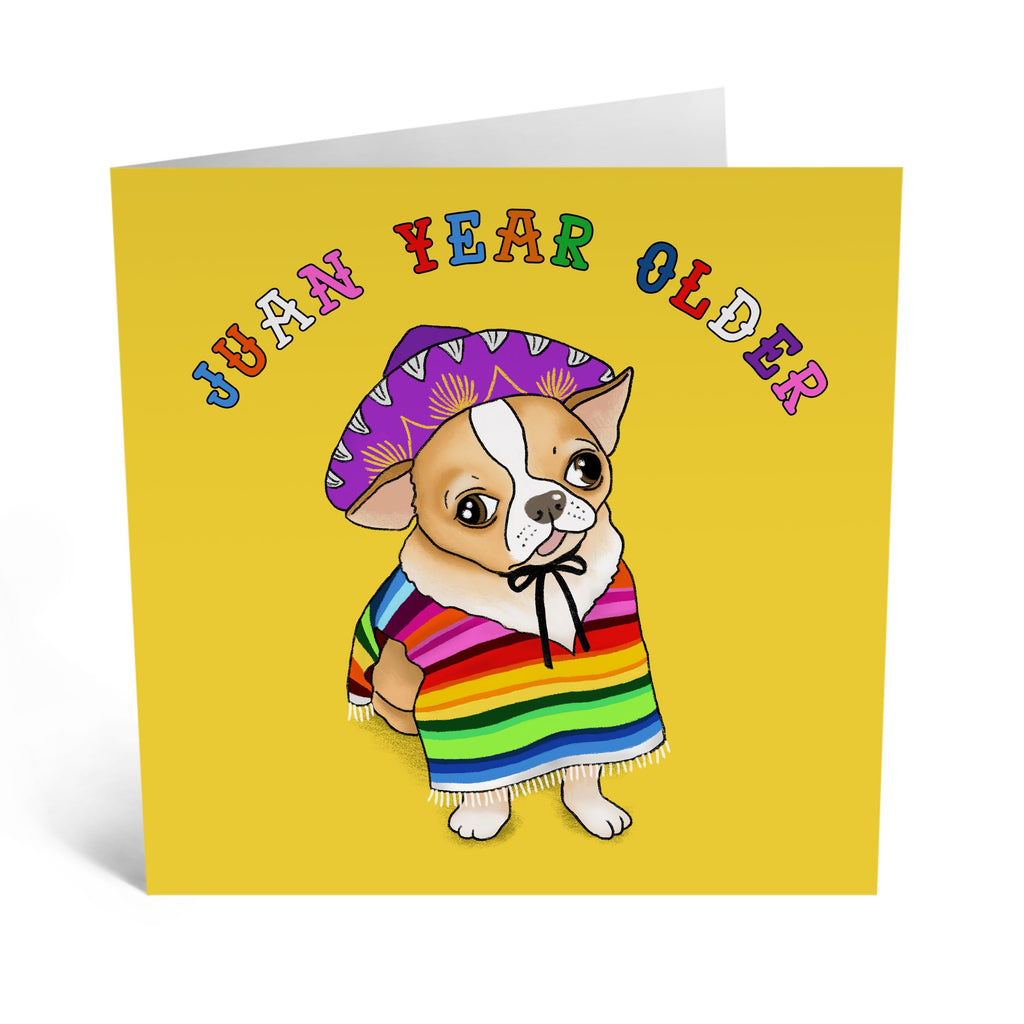 Juan Year Older Birthday Card - US