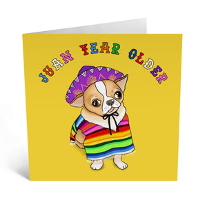 Juan Year Older Birthday Card- US
