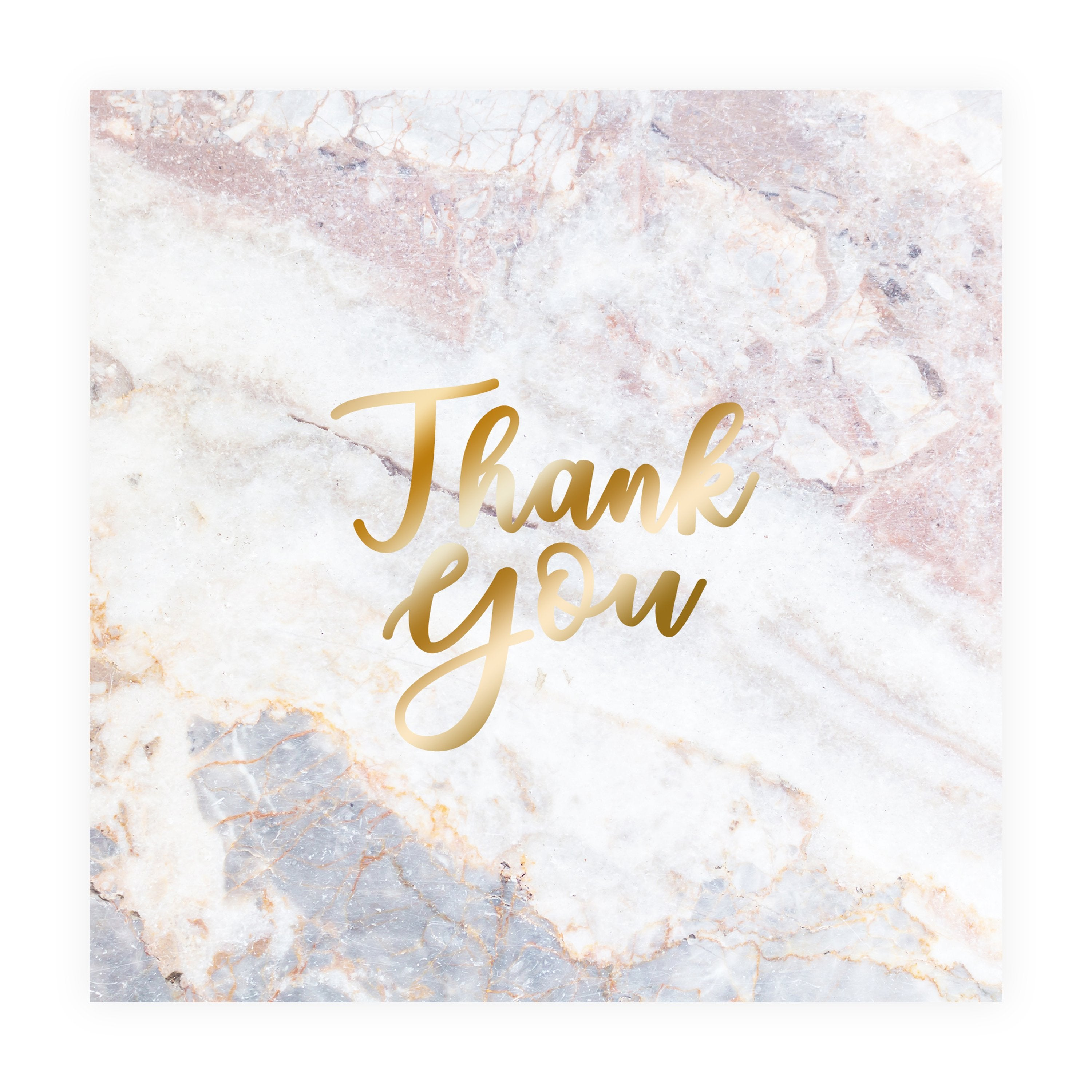 Thank You Card - Pink Marble