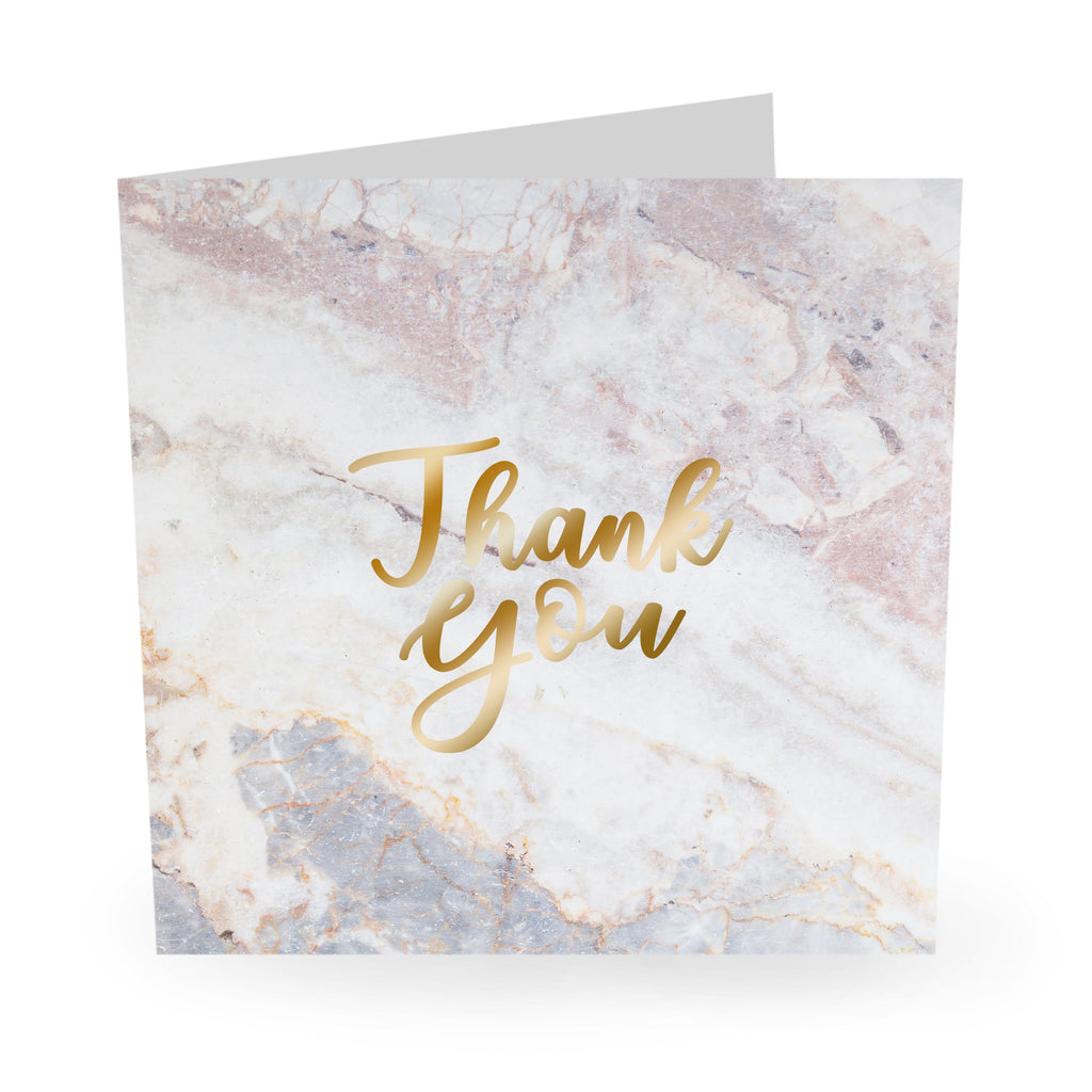 Thank You Card - Pink Marble- US