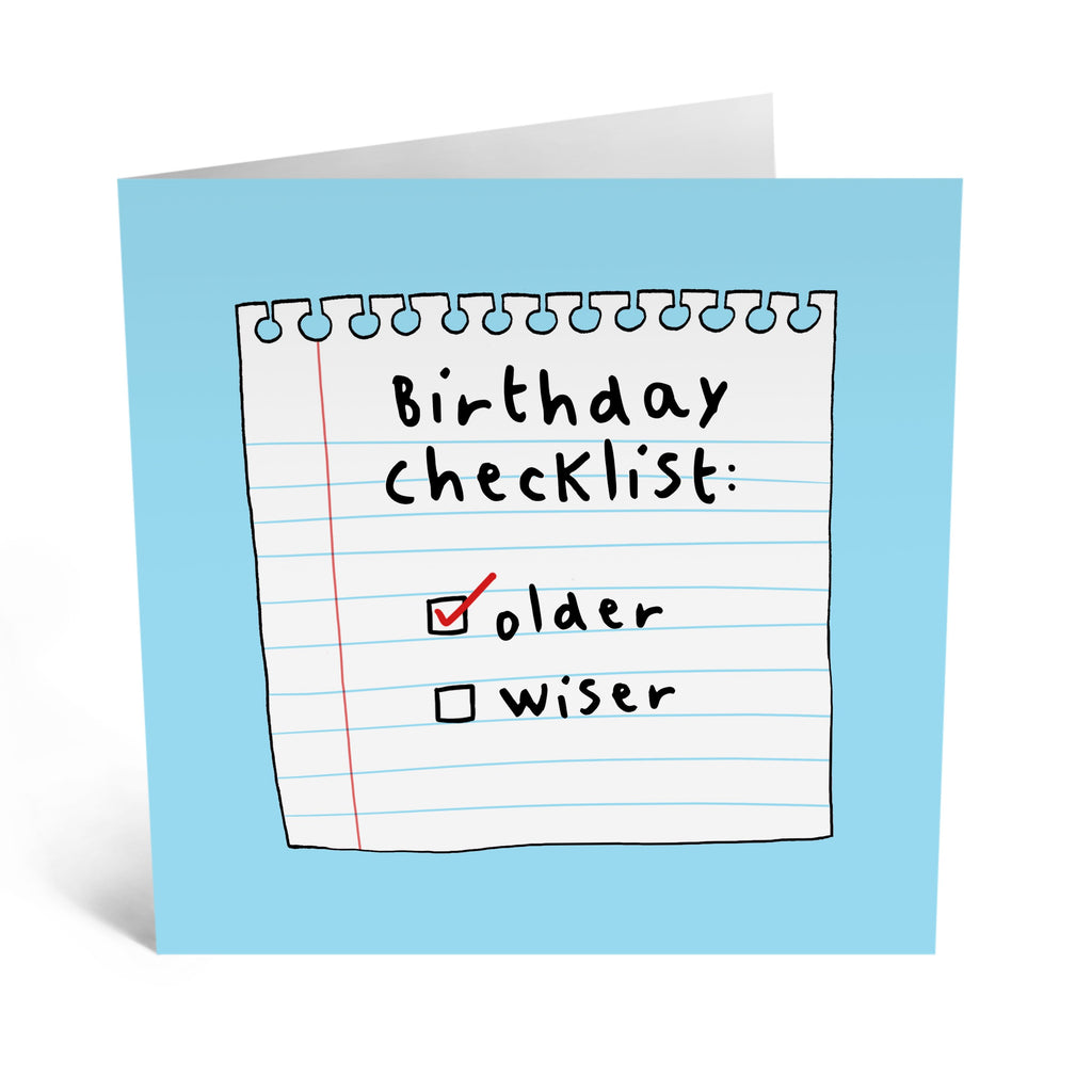 Birthday Checklist Card