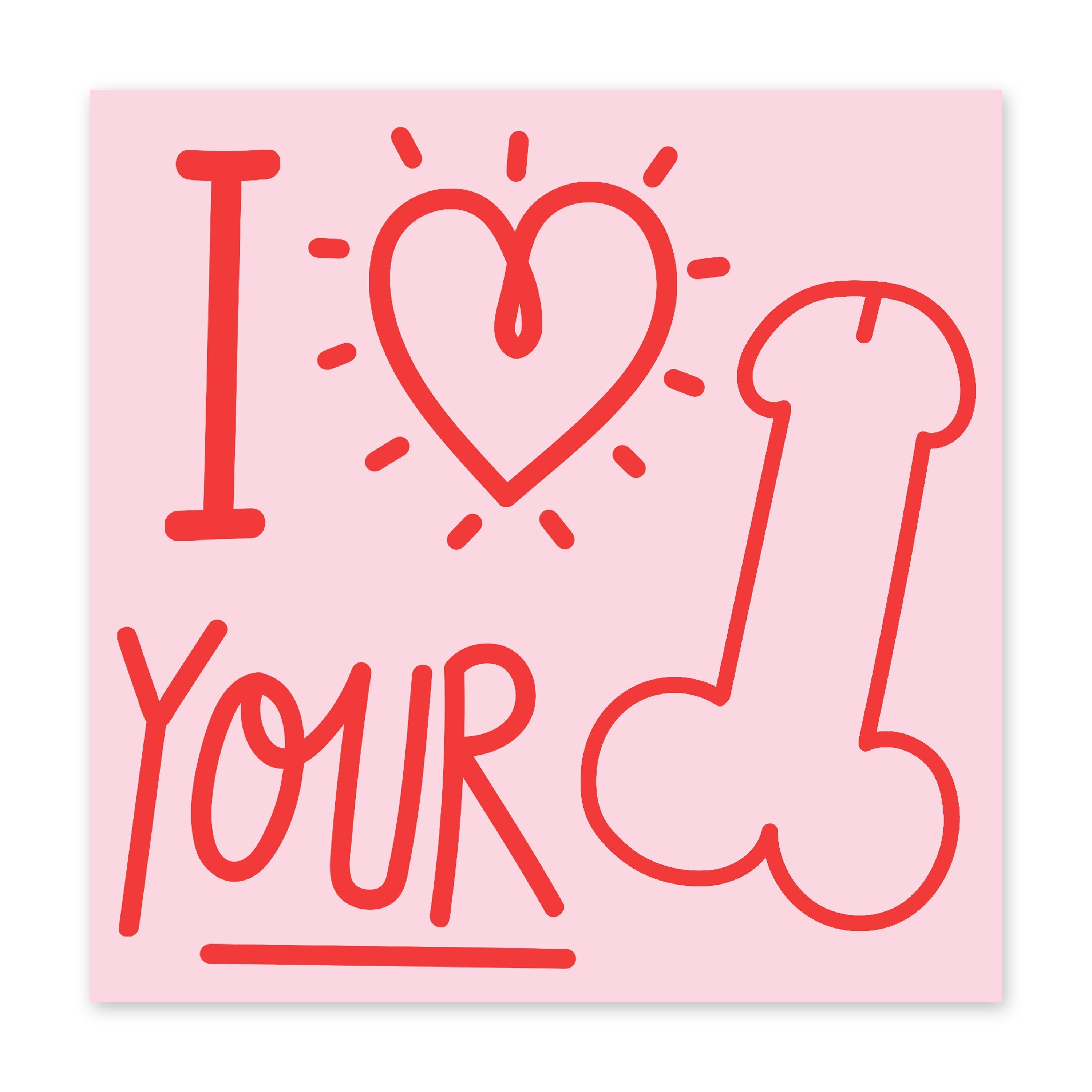 I Heart Your Cock Anniversary Card- US
