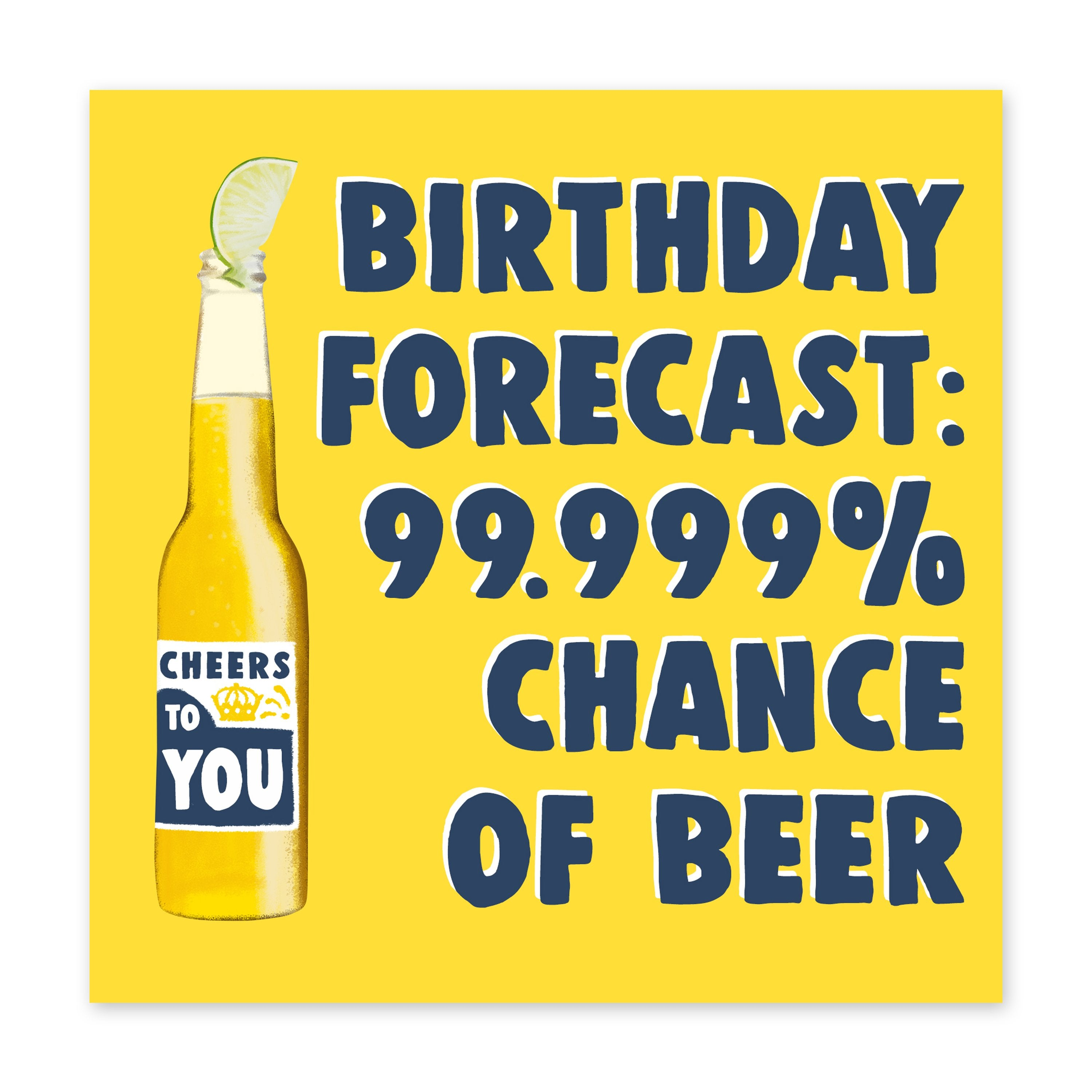 99% Chance Of Beer Birthday Card - US