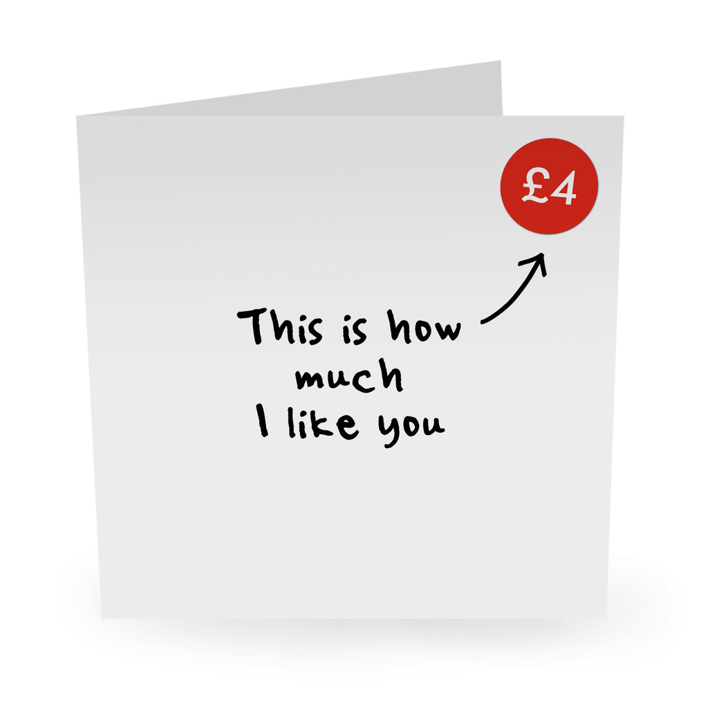 This Is How Much I Like You Birthday Card