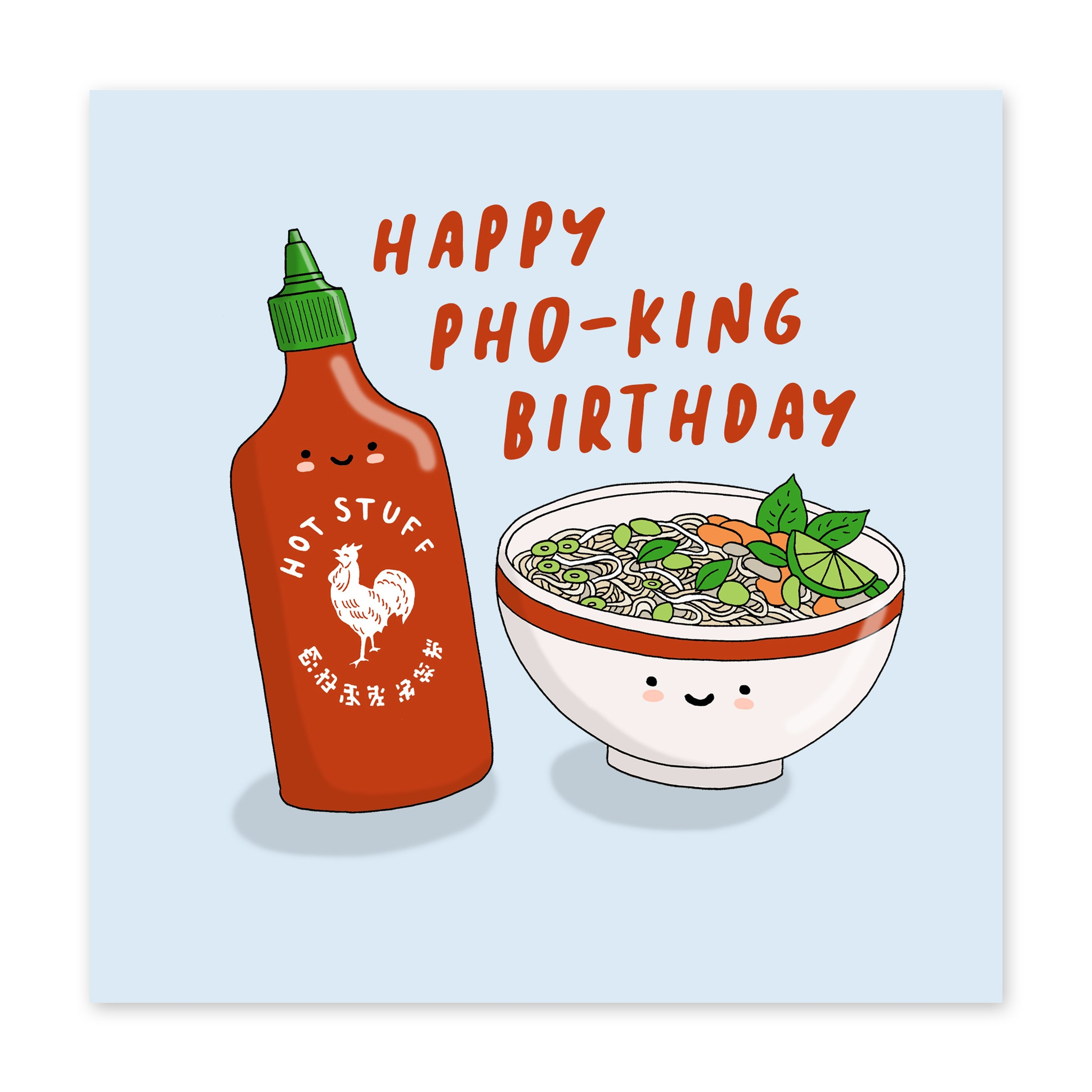Happy Pho-king Birthday Card