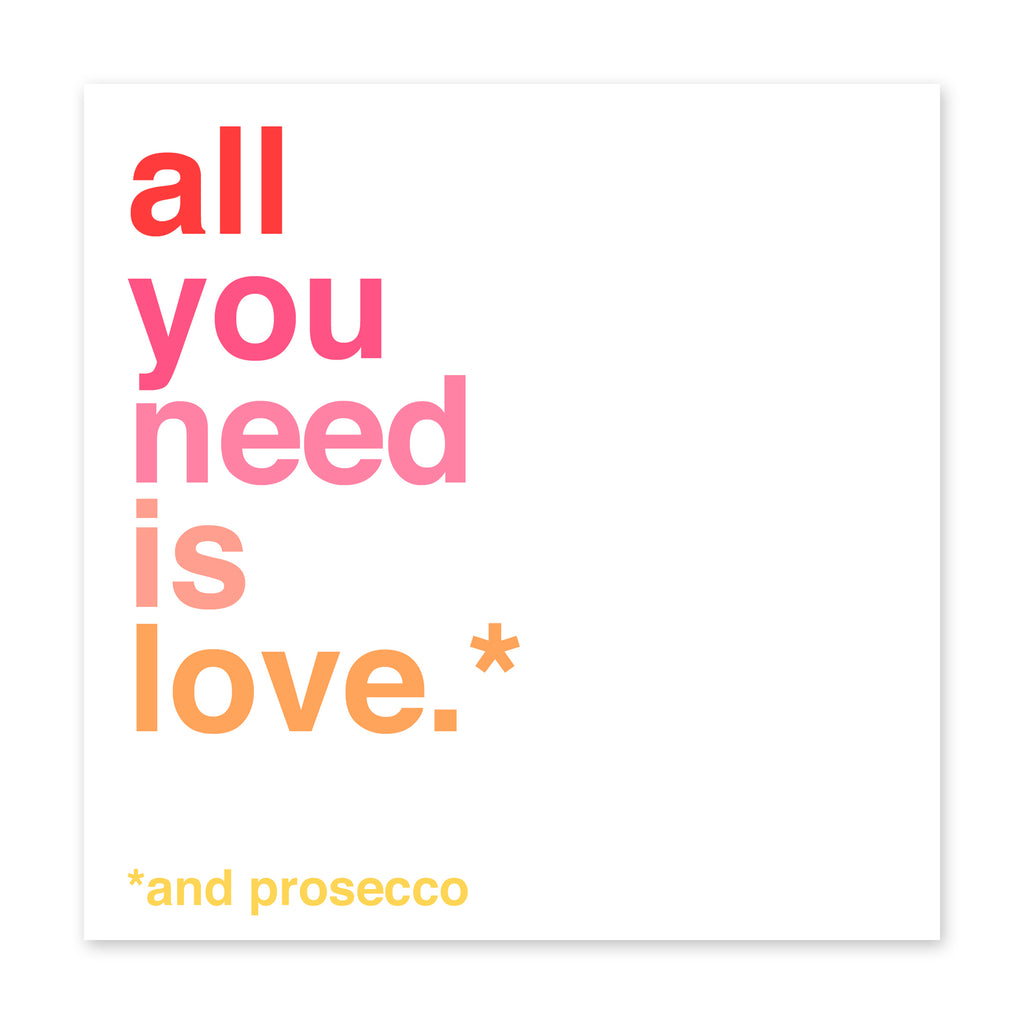 Love And Prosecco Card