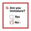 Are You Immature Love Card
