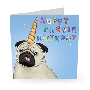 Happy Puggin Birthday Card- US