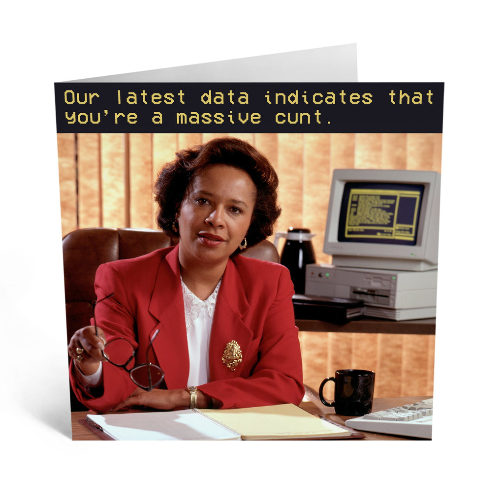 Data Indicates Birthday Card - US