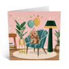 Armchair Dog Birthday Card