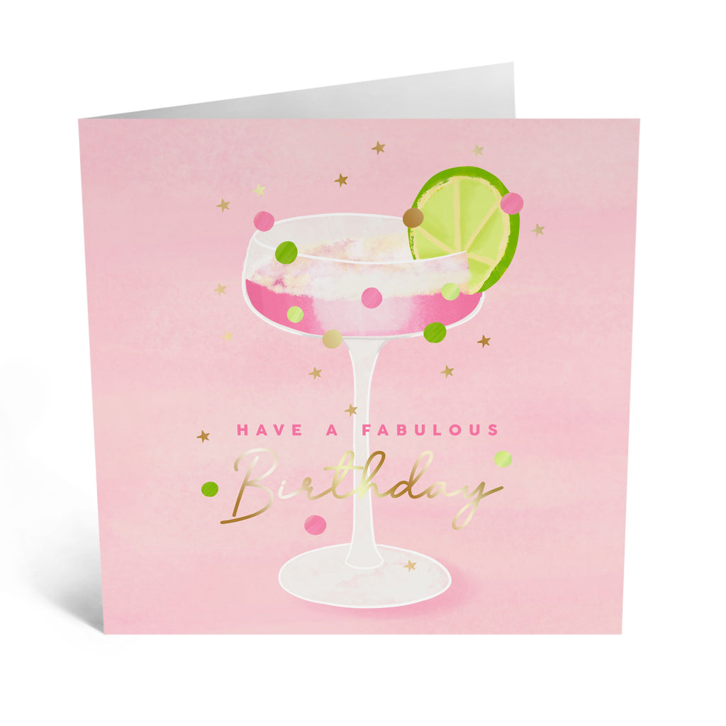Elegant Drinks Birthday Card - US