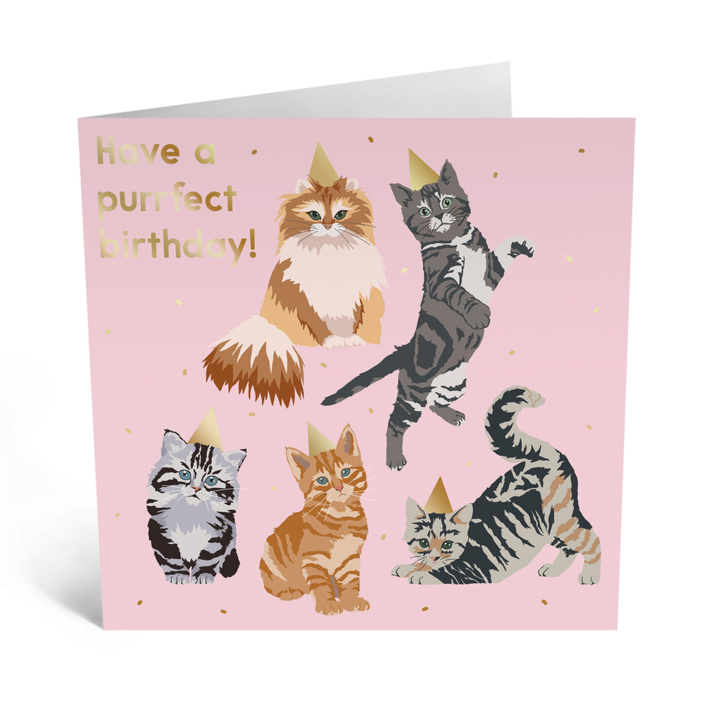 Birthday Cats Card - US