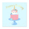 Unicorn Cake Stand Birthday Card