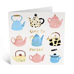 Time to Par-tea Birthday Card