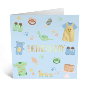 First Birthday Card Blue
