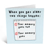 Your Memory Goes Birthday Card