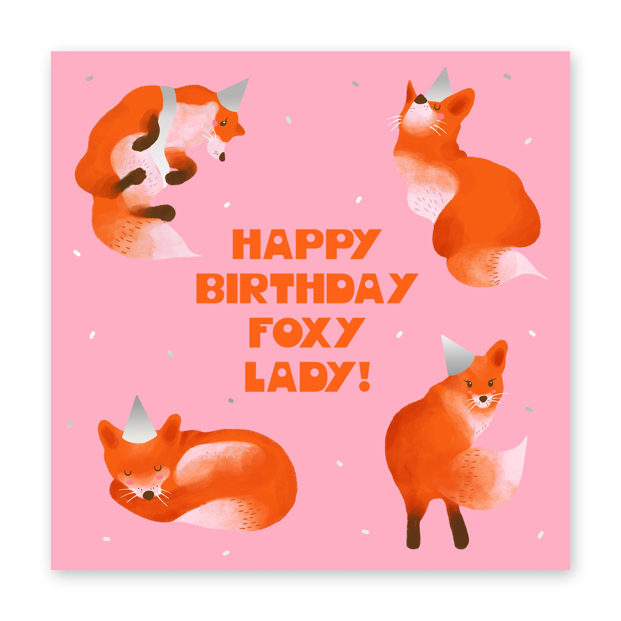 Happy Birthday Foxy Lady Birthday Card