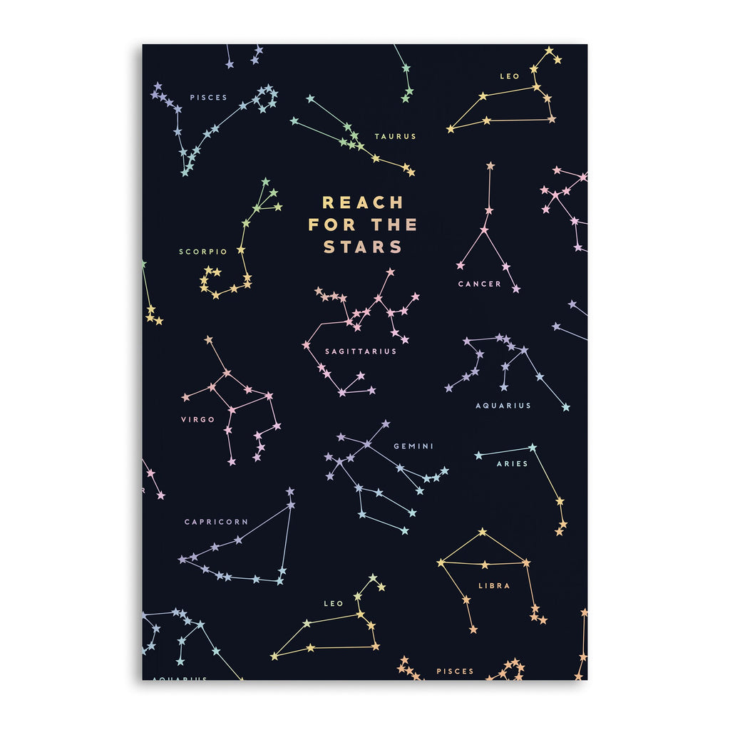 Reach For The Stars Lined A5 Notebook - US