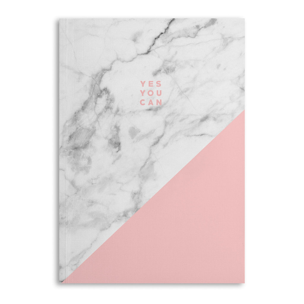Marble Yes You Can Lined A5 Notebook - US
