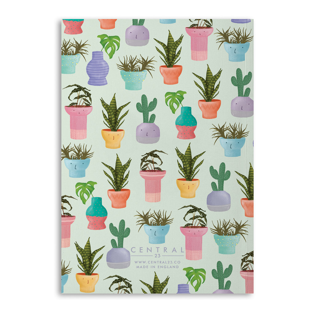 Potted Plants Lined A5 Notebook