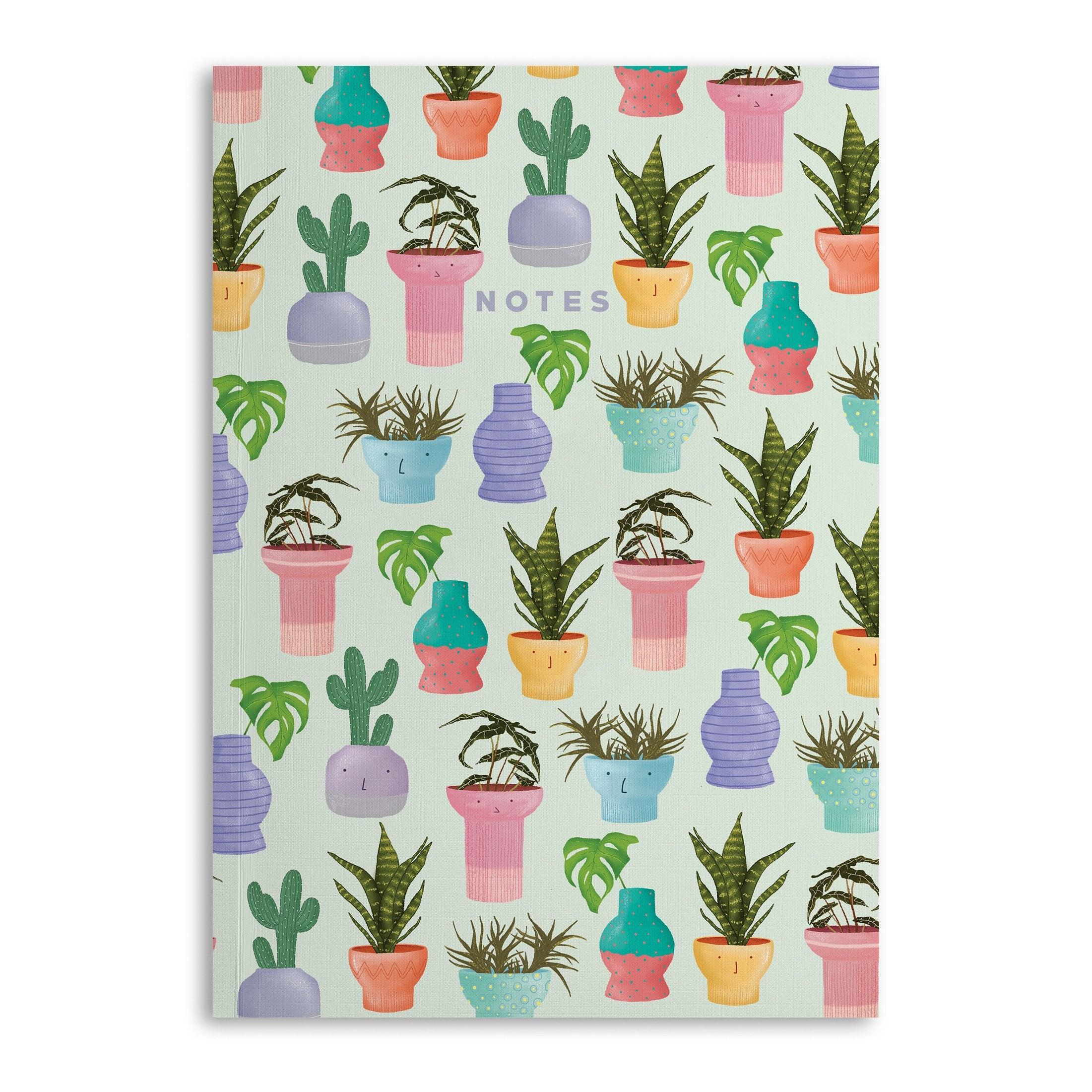 Potted Plants Lined A5 Notebook (120 Pages) - US