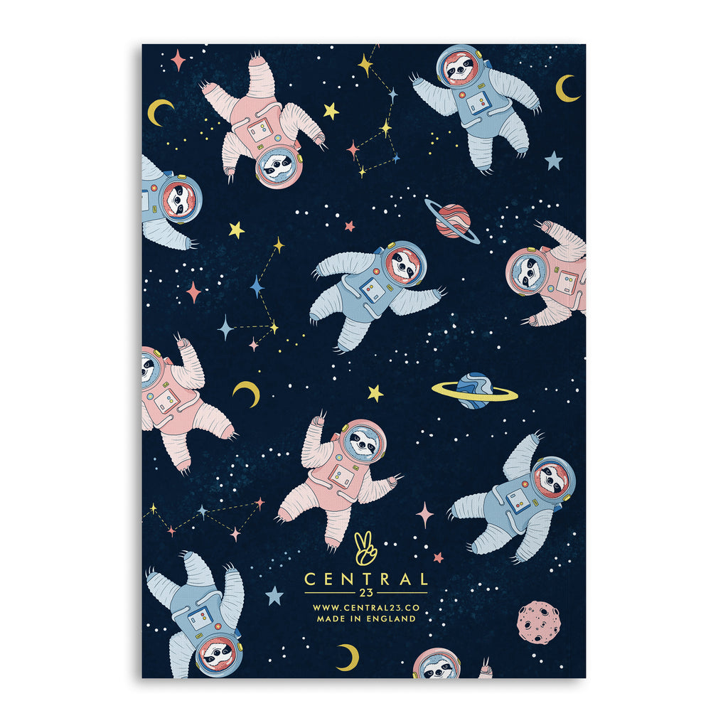 Space Sloth Lined A5 Notebook (120 Pages)