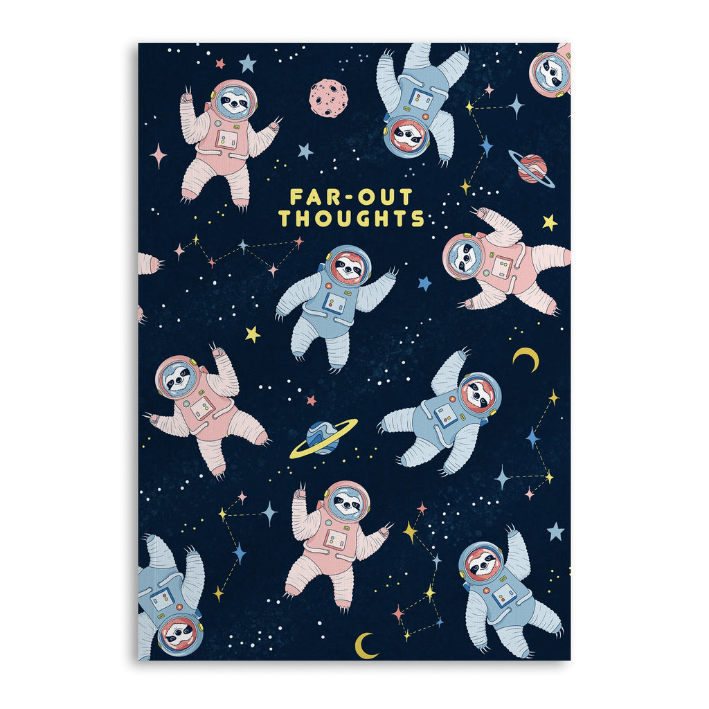 Space Sloth Lined A5 Notebook - US