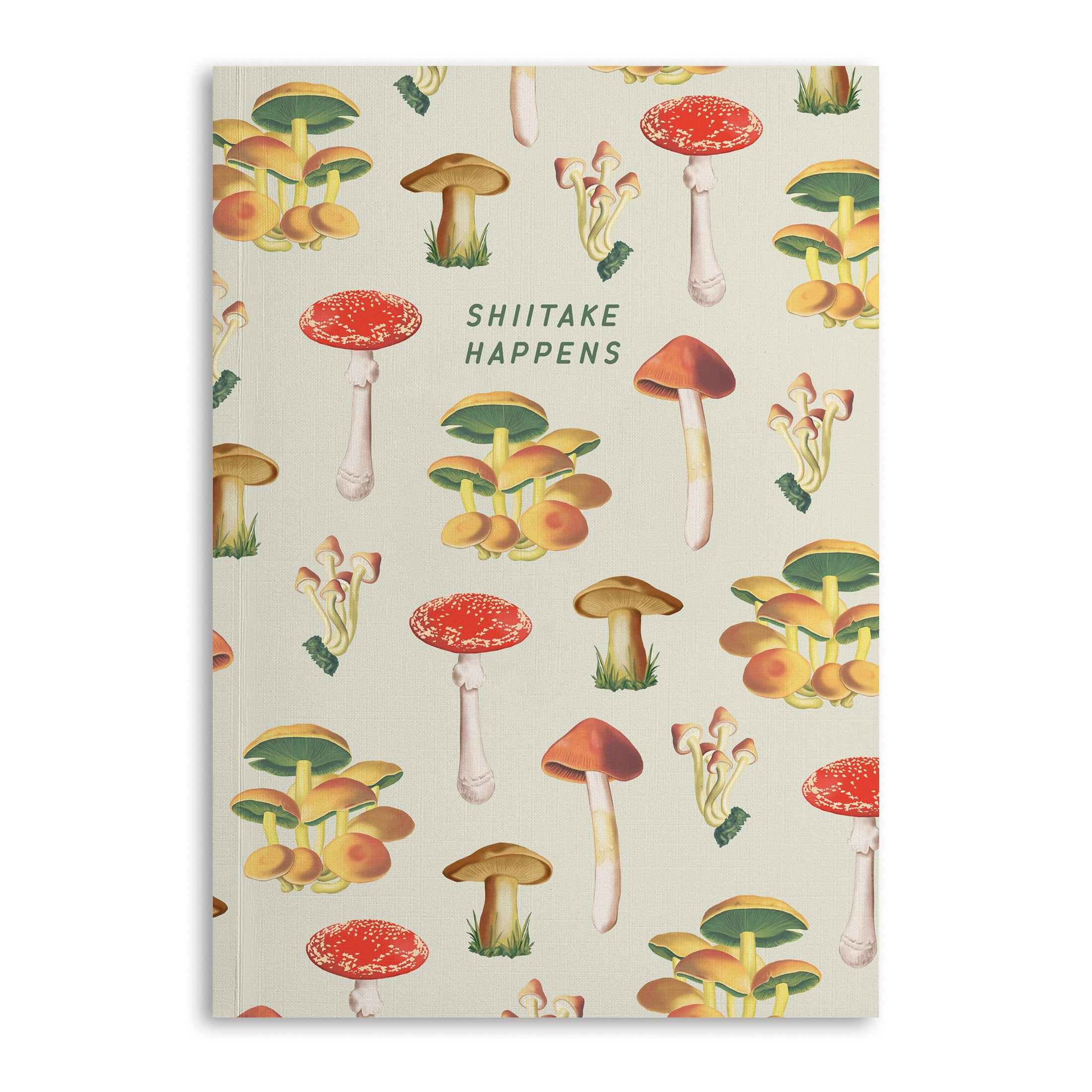 Mushroom Shitake Happens A5 Lined Notebook (120 Pages) - US