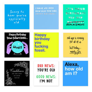 Old Age Cards (Pack Of 10)