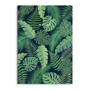 Monstera Plant A5 Lined Notebook (80 Pages)
