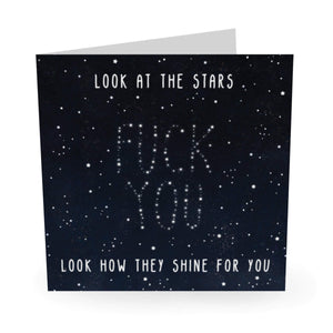 Look At The Stars Birthday Card - US