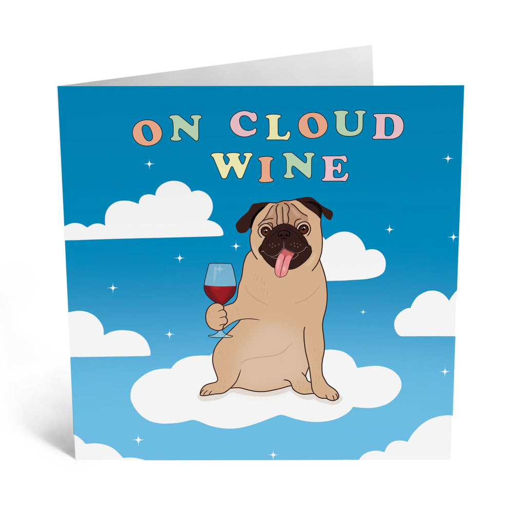 Cloud Wine Birthday Card - US