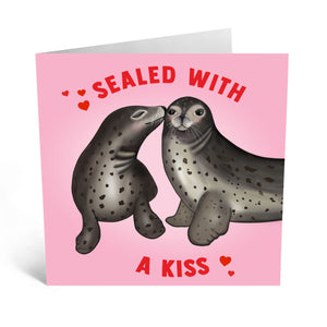 Sealed With A Kiss Love Card - US