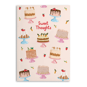 Sweet Thoughts A5 Notebook