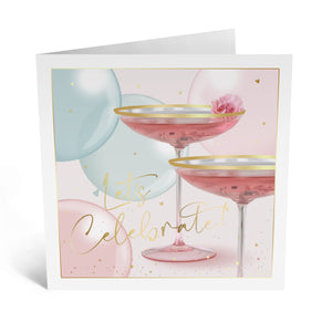 Elegant Drinks - Birthday Celebration Card - US