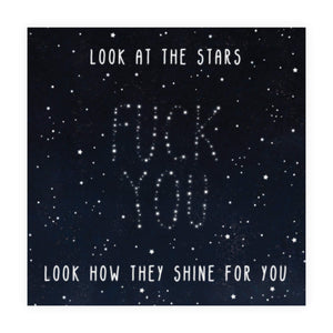 Look At The Stars Birthday Card
