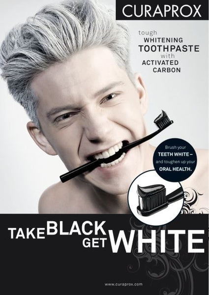 Charcoal Whitening toothpaste - Black is White