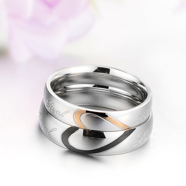1pc Stainless Steel lovers Ring