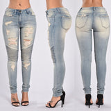Stretch Ripped Sexy Skinny Jeans